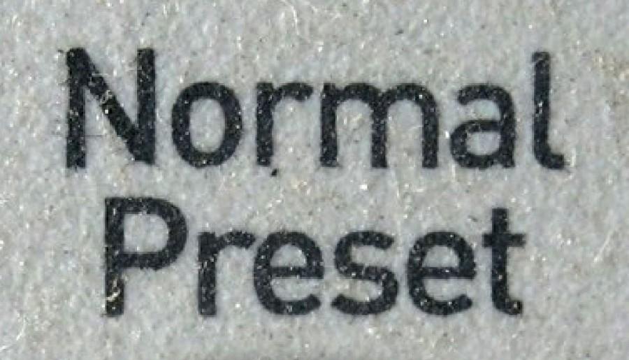 Normal Preset