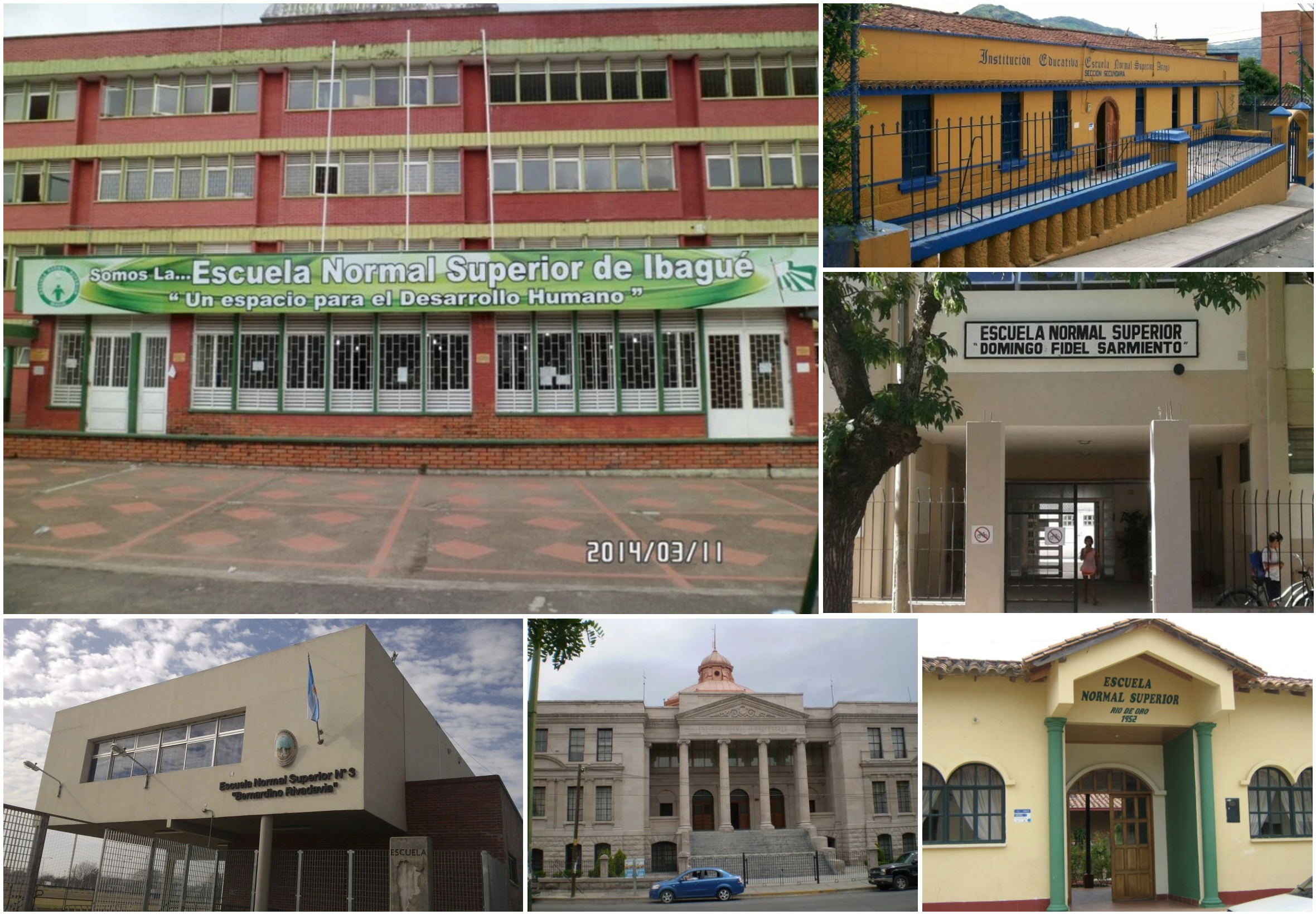 Roundup of Latin American 'Normal School' Seals & Buildings