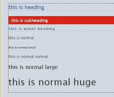 googlepages normal font
