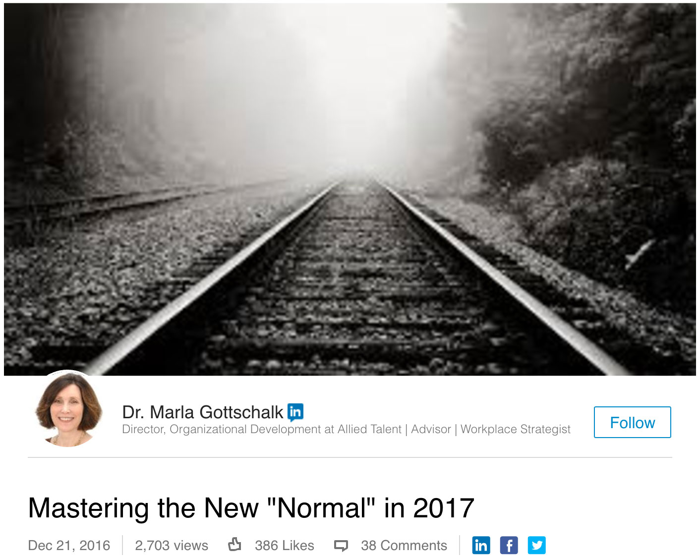 "'Mastering the New ""Normal"" in 2017'"