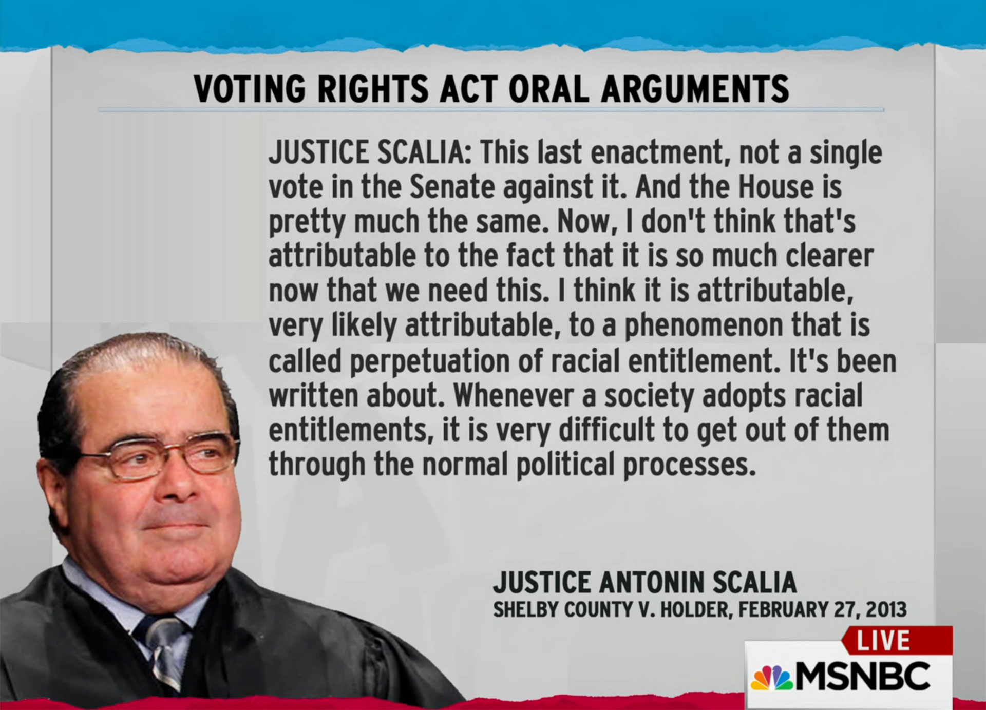 Antonin Scalia was a Normal Political Jerk