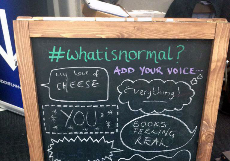 The #WhatIsNormal? Self-Service Chalkboard