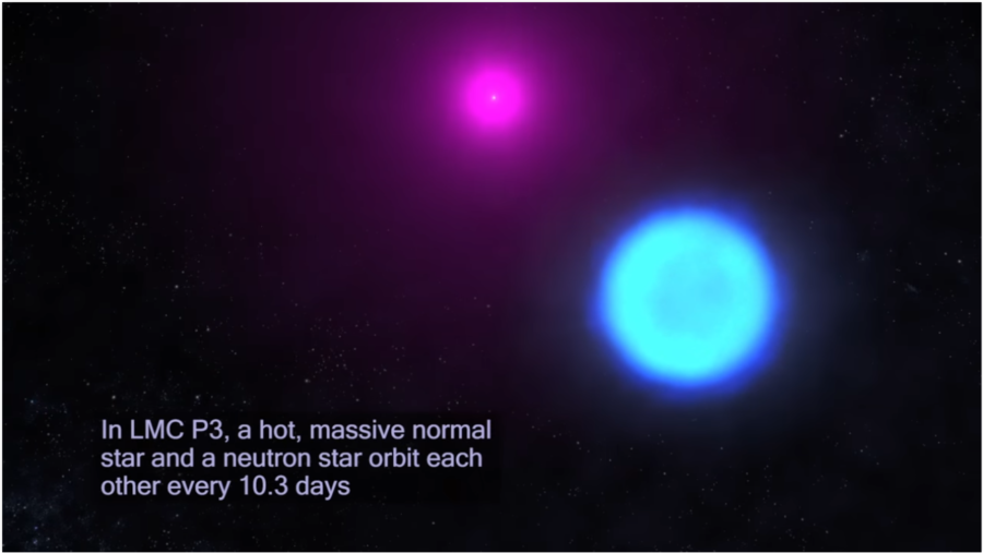 a normal star is hot & massive – this one has a bonus neutron co-star!