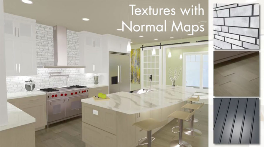 'Normal Maps' add depth to architectural renderings