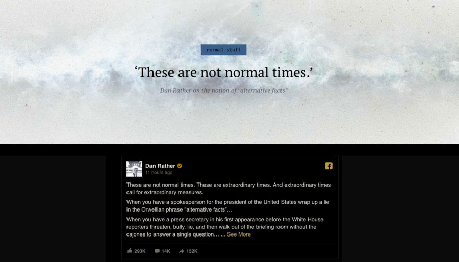 'These are not normal times.'